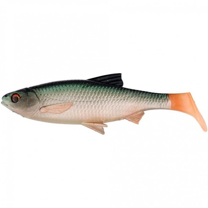 Приманка SAVAGE GEAR 3D LB River Roach Paddletail 18cm 70g 10pcs Green Silver G 63708