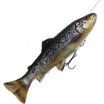 Приманка SAVAGE GEAR 4D Line Thru Pulsetail Trout 20cm 102g SS Brown Trout
